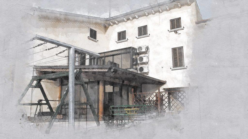 Progetto chiusura porticato esterno - Povegliano Veronese ...